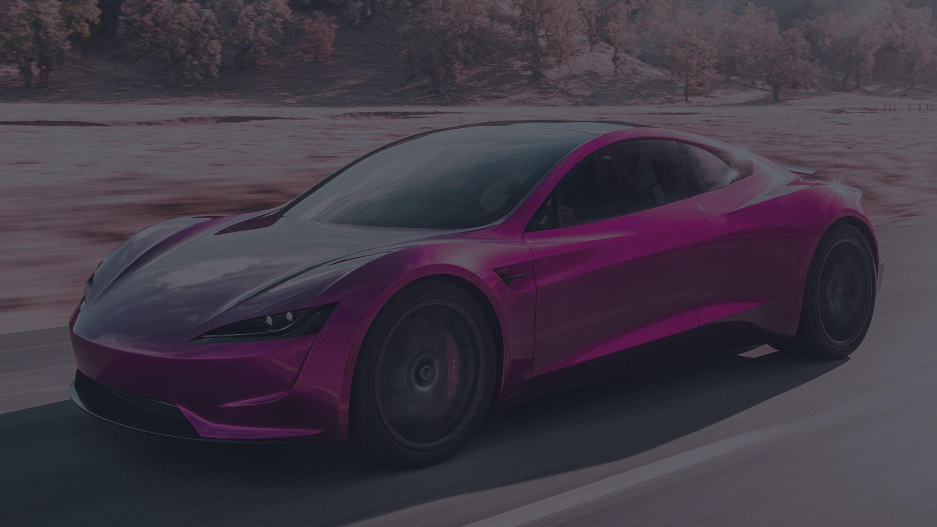 voiture sport rose